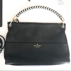 Kate Spade black pebble leather crossbody bag